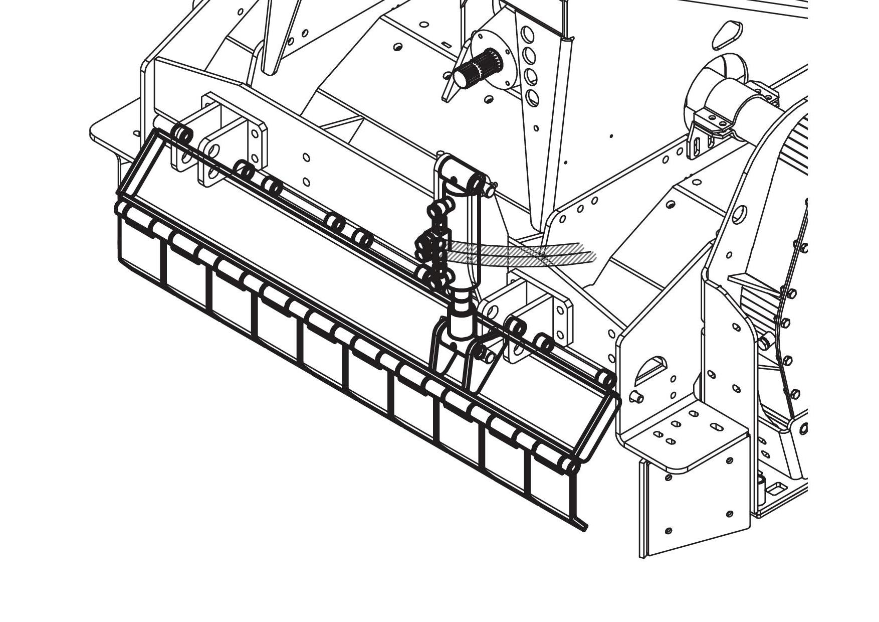 Single Hydraulic Jack For Conveyor Front Plate Adjustment Diagram